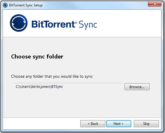 Folder to Sync - any folder accessible to the computer